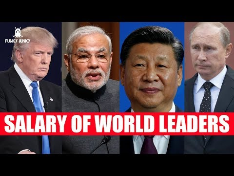 Salary of World Leaders | Top World Leaders | Narendra Modi | Donald Trump | Putin | Jinping | Abe