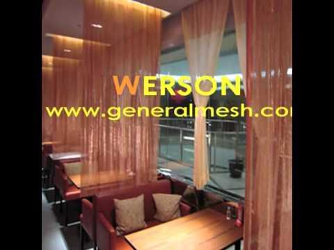generalmesh Architectural Drapery, Woven Wire Drapery,living room curtain
