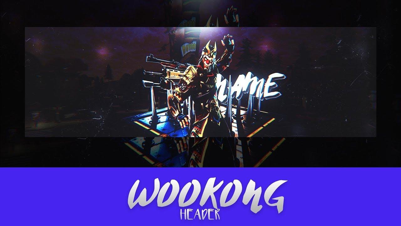 Fortnite Wookong Header Speedart Template Youtube