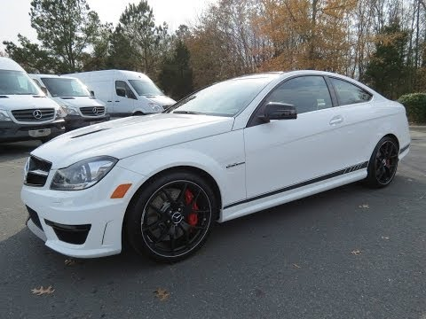 2014 Mercedes-Benz C63 AMG Coupe Edition 507 Start Up, Exhaust, and In Depth Review