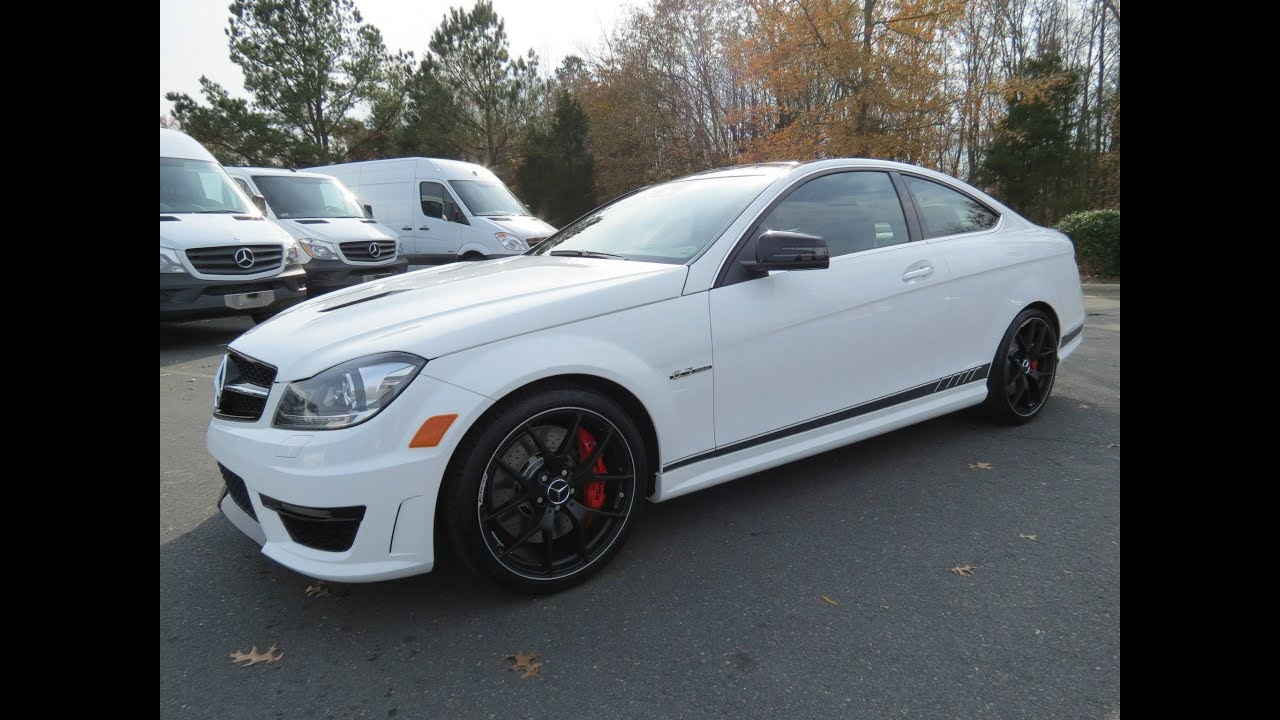 2014 mercedes benz c63 amg coupe edition 507 start up for Mercedes benz c63 2014