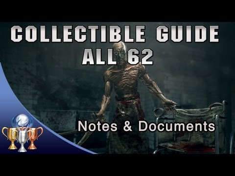 Outlast - ALL 62 Notes & Documents - Full Game Collectibles Guide - PULITZER Trophy