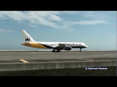 (Unusual Visitors) Monarch with B757 & Pretty Private Jets    Madeira