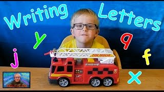 How to Write your Letters - q, f, j, y, x (Lesson 4) | Kids Educational Videos