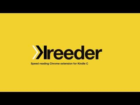 Kreeder - speed reader for Kindle