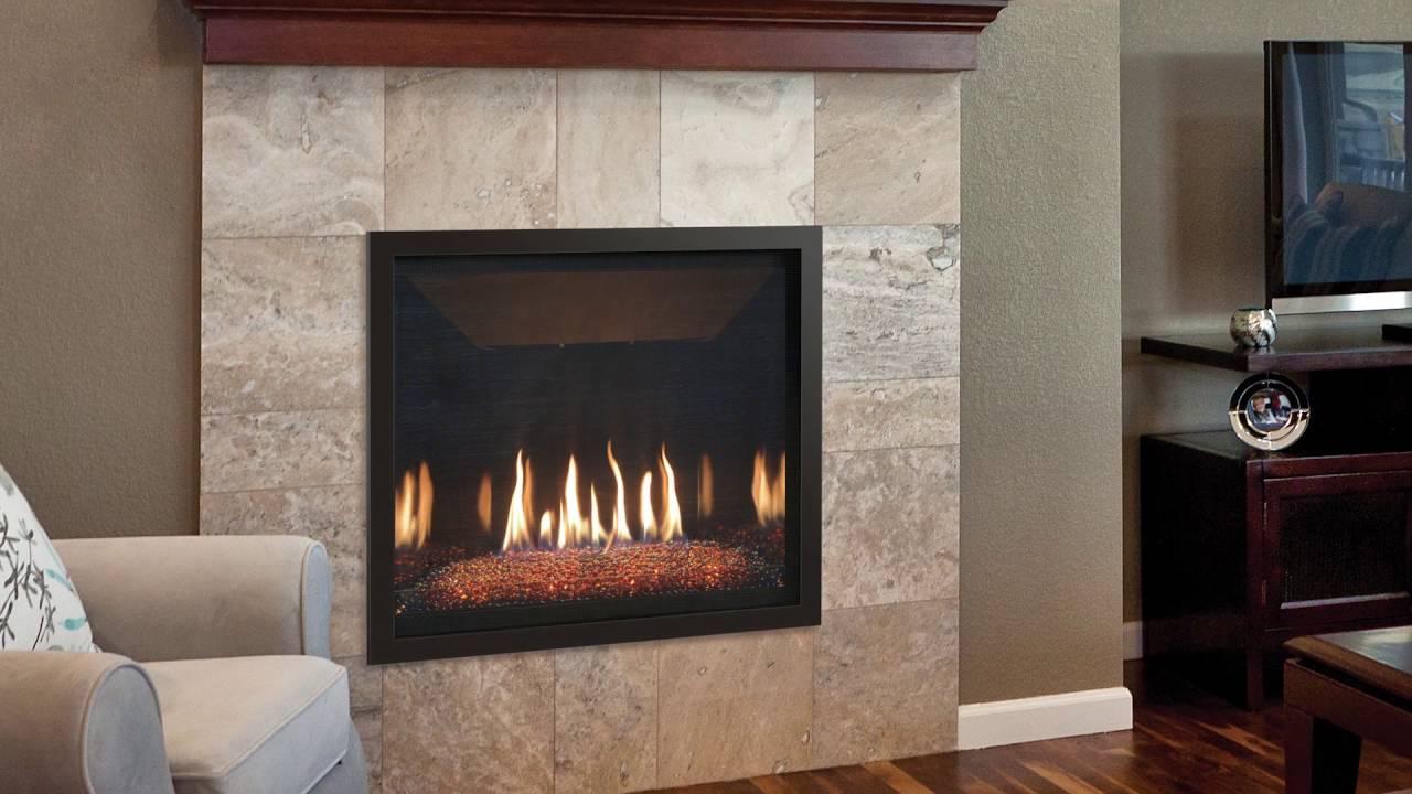 kozy heat fireplaces bayport 36 glass youtube