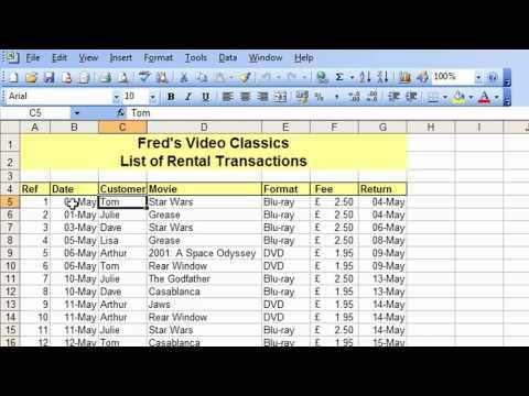 Microsoft Excel Tutorial For Beginners #26 - Database Pt.2 - Freeze & Split Table Navigation