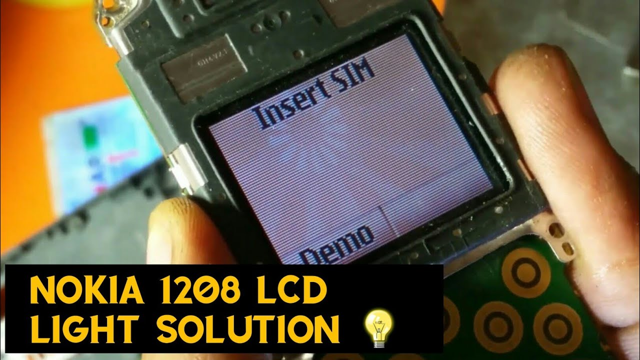 Nokia 1208 LCD light not working solution