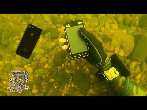Нашёл телефон под водой!!! ЛУЧШИЕ НАХОДКИ