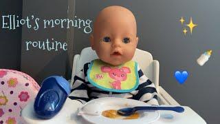 BABY BORN Elliots morning routine  Furbtastic