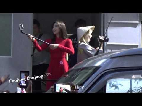 [HD Fancam] Eunjung so cute in Vietnam 2016 (ao dai, fansign)
