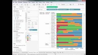 كيفية إنشاء مخطط شريطي مكدس المخطط أن يصل إلى 100% في اللوح