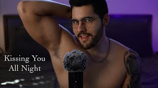 ASMR Kissing You All Night - 8 Hours Male Kissing, Breathing & Beard Scratching Triggers - Looped
