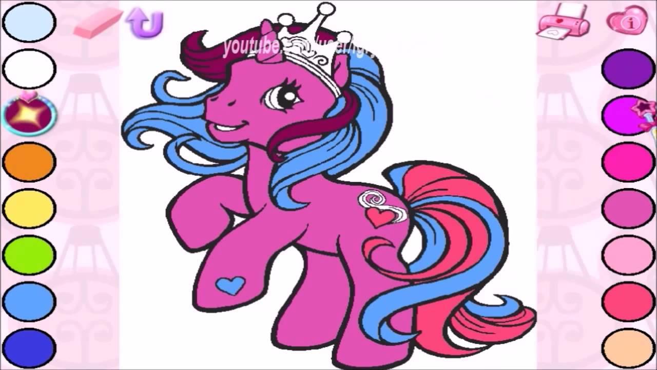 Смотреть онлайн Май литл пони игра Раскраска для детей ...