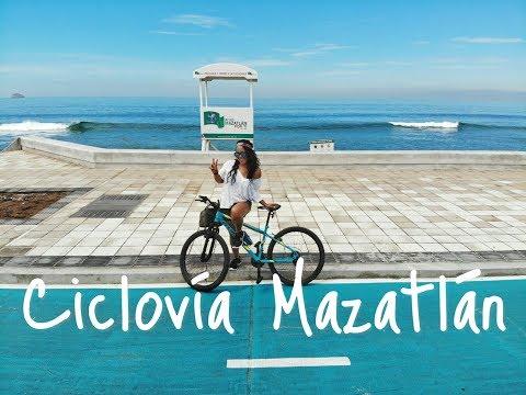 Una ciclovía a la orilla del mar   Me fui a rodar a Mazatlán - YouTube
