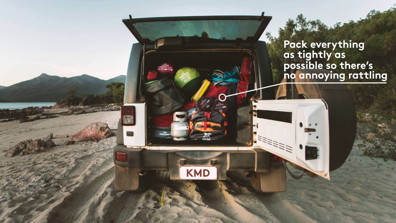 tips for packing your camping gear into the car