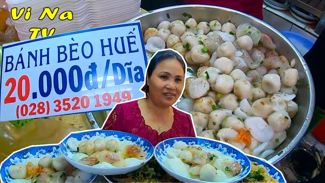 Bánh bèo Huế 20k/dĩa rẻ nhất chợ Bến Thành trung tâm Quận 1 – Vi Na TV