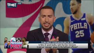 Stephen Jackson on Ben Simmons  He can't shoot, he won't even shoot it'   NBA   FIRST THINGS FIRST