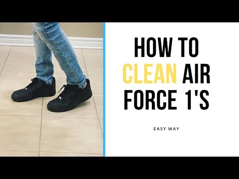 How to clean air force ones FAST & EASY