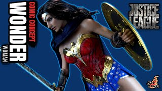 Hot Toys Justice League Comic Concept Wonder Woman Sixth Scale Figure | Video Review