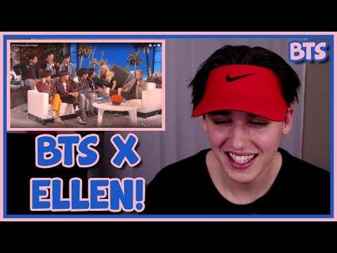 BTS ELLEN INTERVIEW [GETTING SCARED] REACTION