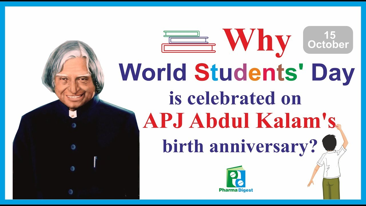Why World Student S Day Is Celebrated On Apj Abdul Kalam S Birth Anniversary Youtube