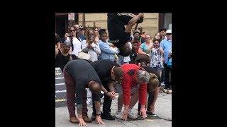 MAN JUMPS OVER 4 PEOPLE EPIC FLIP!