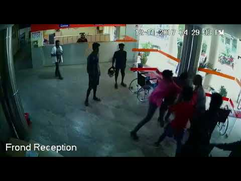 Exclusive CCTV Visuals: Goon attack in Attukal Devi Hospital Thiruvananthapuram