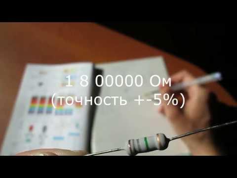 Маркировка резистора как быстро запомнить цвета полосок сопротивления