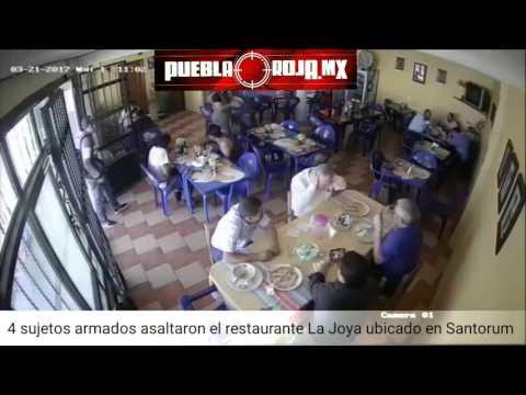 Roban 2 autos en asalto a comensales en restaurante La Joya en Santorum