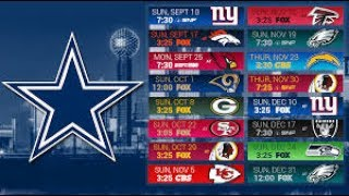 DALLAS COWBOYS 2017-2018 SCHEDULE PREDICTION!