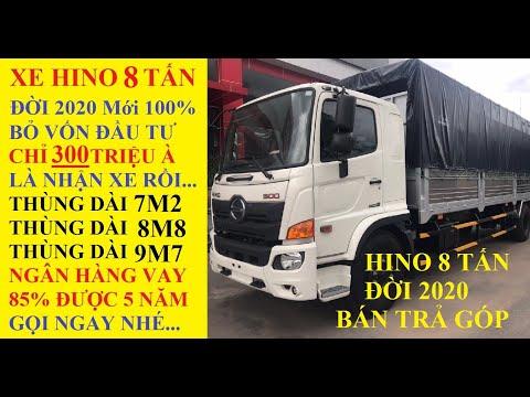 Giá xe tải Hino 8 Tấn FG8JT7A Đời 2020 Chỉ 300 Triệu là Nhận Xe