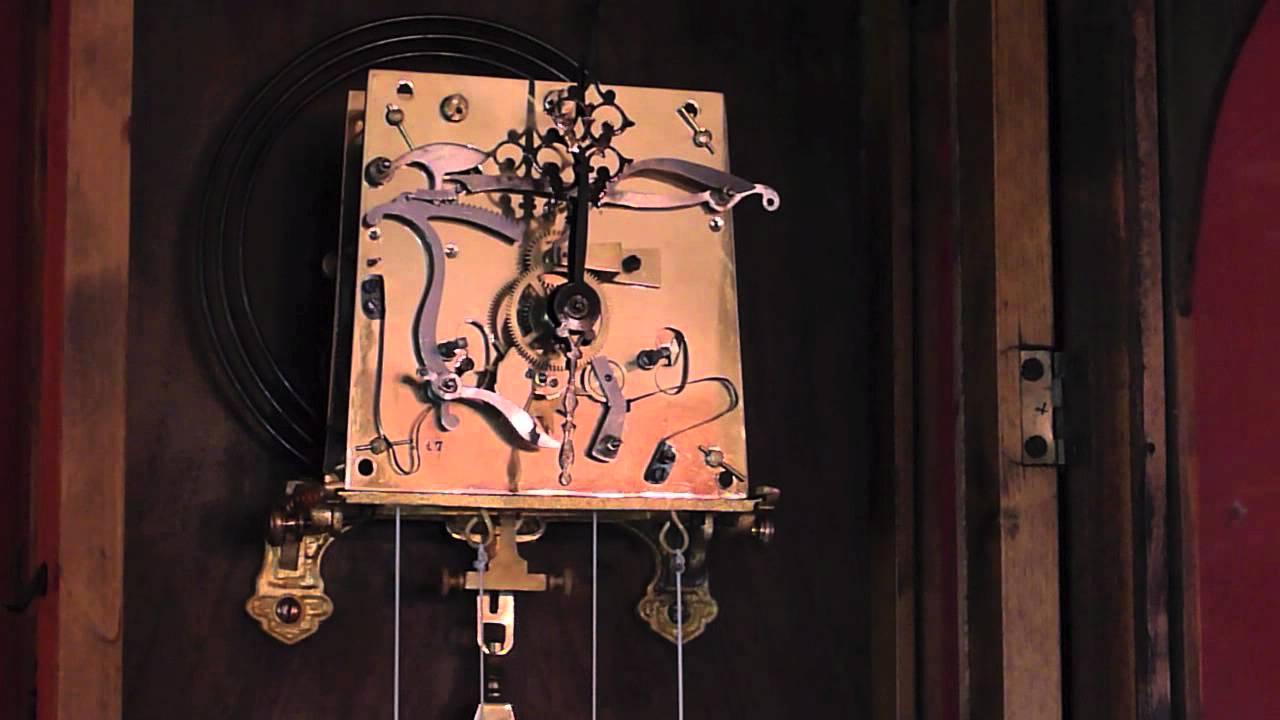 Vienna Regulator 2 Weight Wall Clock With Seconds Dial