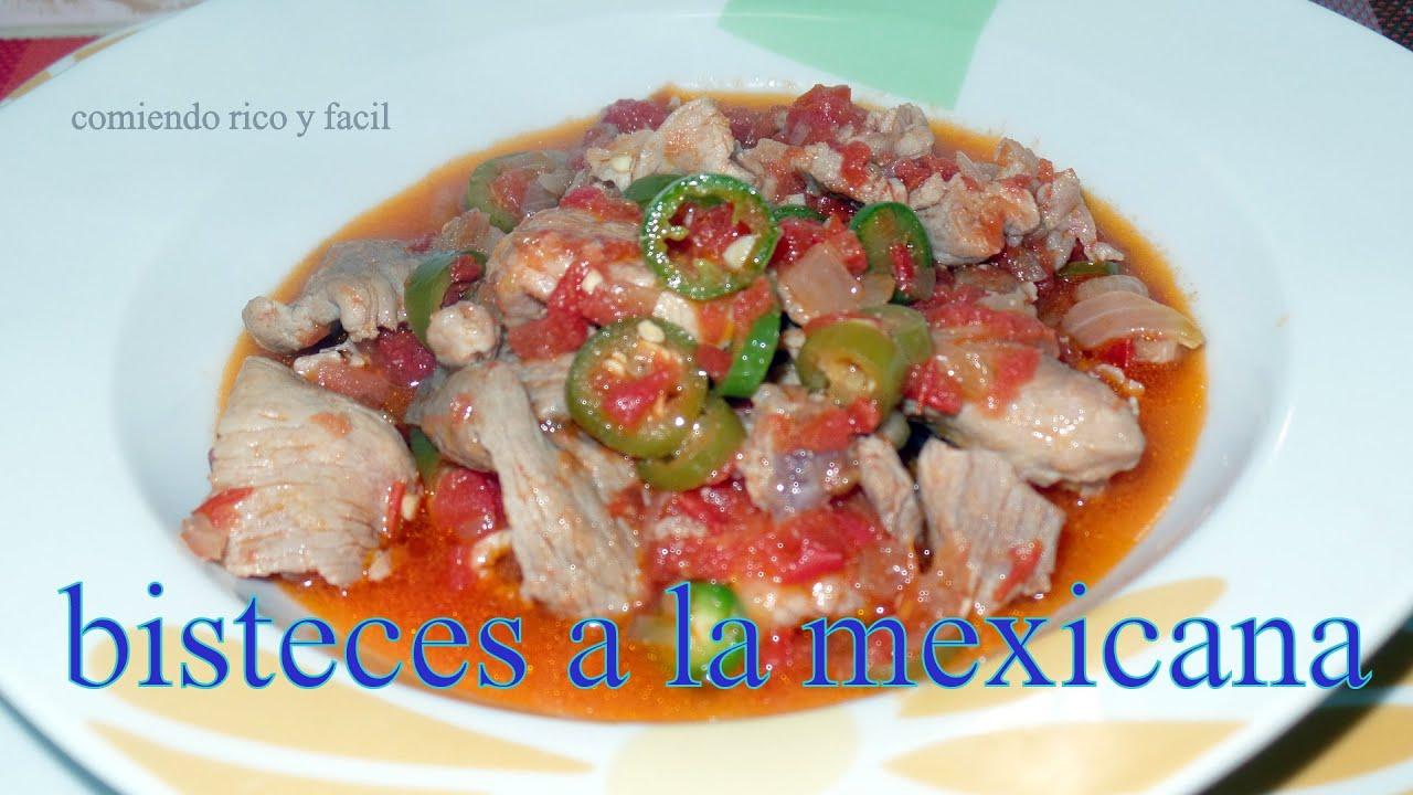 Bisteces a la mexicana comida mexicana comiendo rico y facil youtube - Comida para navidad facil ...