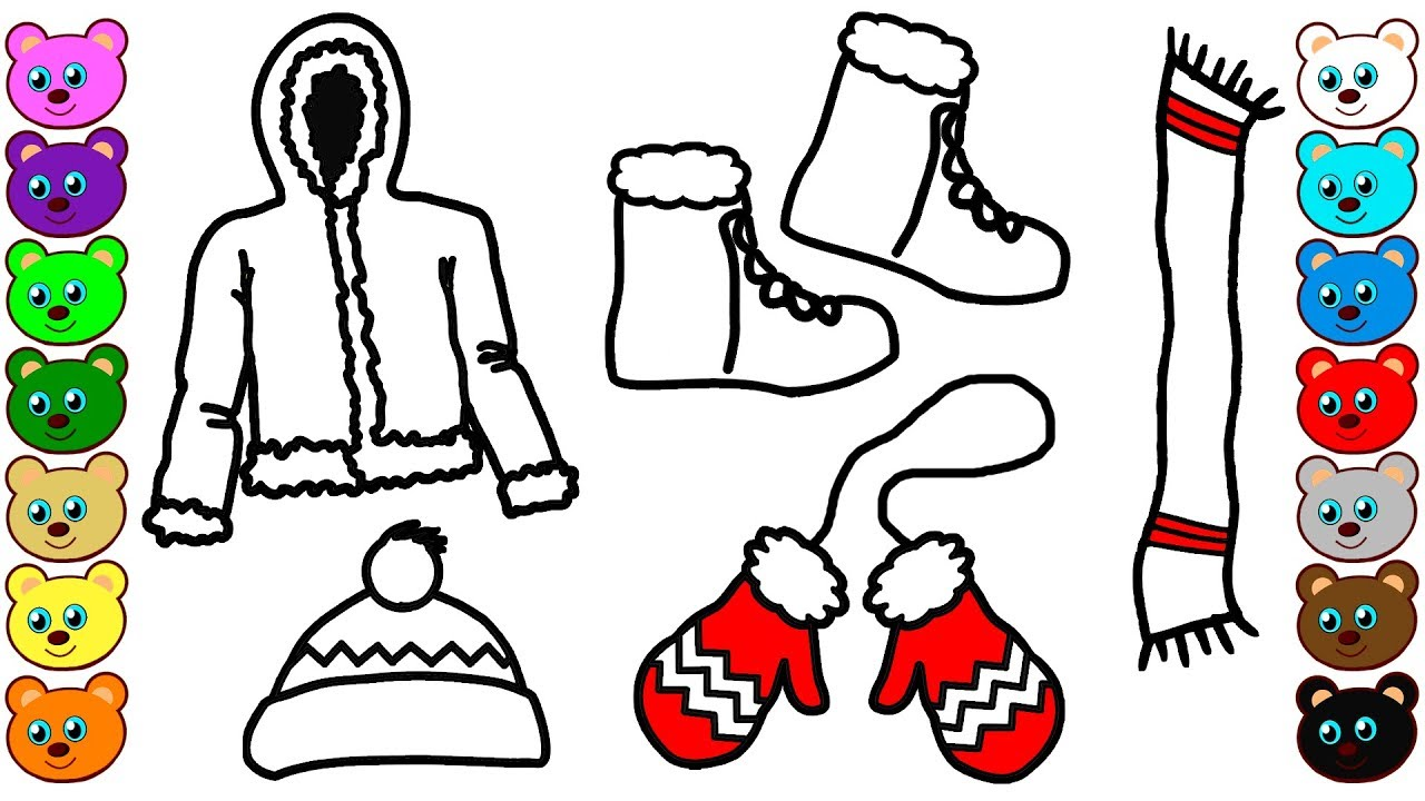Winter Clothes | Coloring Pages for Baby - YouTube