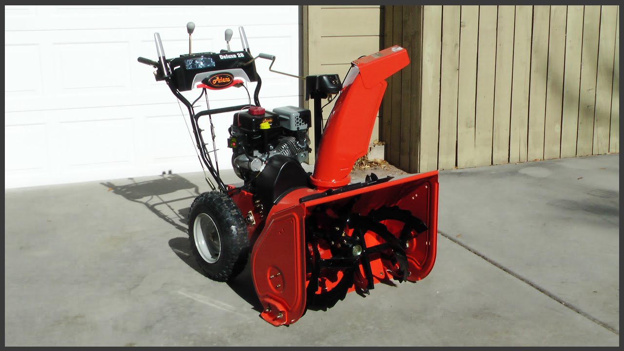 How To Start A Snowblower Youtube