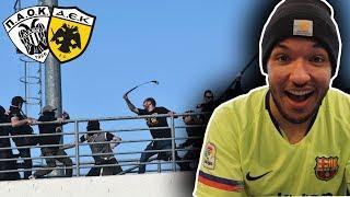 ΠΑΟΚ ΑΕΚ HOOLIGANS FIGHT ● PAOK - AEK GREEK FINEST    REACTION (Greek Hooligans Fight)