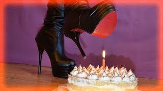 Knee high boots cake crush