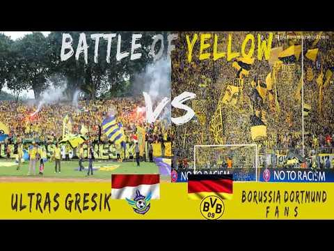 BattleOfYellow - Ultras Gresik vs Borusia Dortmund Fans