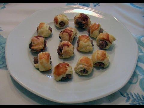 Feuilletés aux merguez et mini-saucisses par Mamy Monica