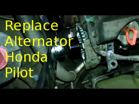 Alternator replacement overview 2007 Honda Pilot 3.5L V6 How to change or replace generator ...