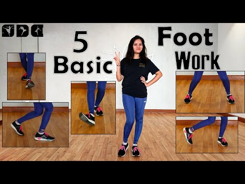 5 Easy And Basic Footwork - Dance Steps | Easy Dance Steps For Beginners | Shipra's Dance Class
