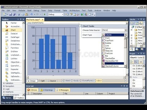 C# Tutorial - Creating Chart in C# Windows Forms Application - YouTube