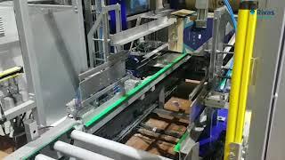 Video: Línea de encajado automático con carga lateral // Case Packer Automation side filling solutcion