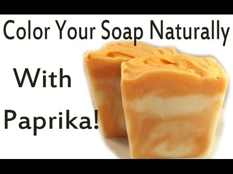 Soap Naturally Colored With Paprika-Blood Orange Scent - YouTube