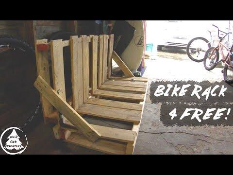 DIY Bike Rack For Free - PALLET Bike Rack