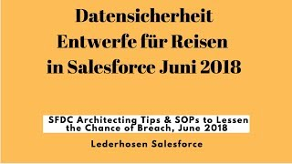 Reisen Datensicherheit bzw Salesforce Juni 2018