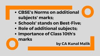 CBSE's Rules on Additional Subjects, Best 5, and on Final Marks | Class 10th Results | Latest Update
