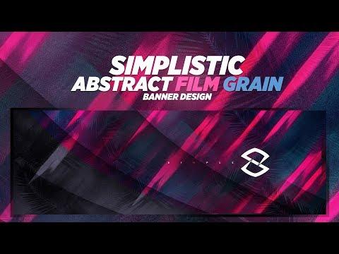 Photoshop Tutorial: Simplistic Abstract Film Grain Banner Design