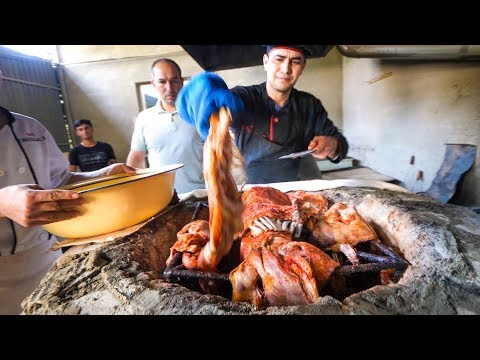 Ultra-Tender TANDOORI LAMB!! | Food Tour + Attractions in Bukhara - Silk Road Uzbekistan!